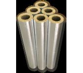 Цилиндры минераловатные, кашированные алюминиевой фольгой толщиной 20 мм (цена за метр)