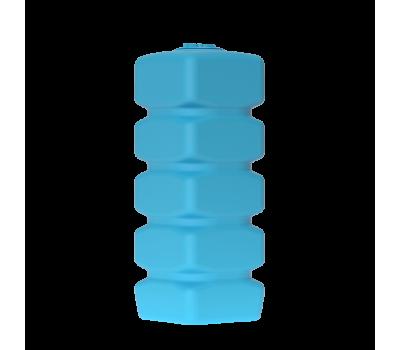Бак д/воды Quadro W-1000 (СИНИЙ) с поплавком вертикальный