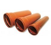 Труба с раструбом рыжая  110х3,2 мм ТУ