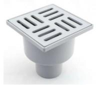 Трап вертикальный нерегулируемый с выпуском 50 мм, с пластиковой решеткой 100х100 ANI ТA5204