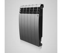 Радиатор биметаллический Royal Thermo BiLiner 500 Silver Satin боковое подключение серебристый