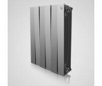 Радиатор биметаллический Royal Thermo Piano Forte 500 Silver Satin  боковое подключение серебристый