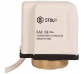 Сервопривод электро-термический STOUT нормально открытый 230В STE-0010-230002