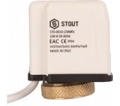 Сервопривод электро-термический STOUT нормально закрытый 230В STE-0010-230001