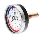"""Термоманометр ТМТБ-31Т Ду 80 заднее подключение 1/2"""", до 6 бар - 120° С"""